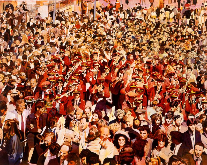 Francesco Lauretta, Rosso sciantoso, 2003, olio su tela, cm 174x213