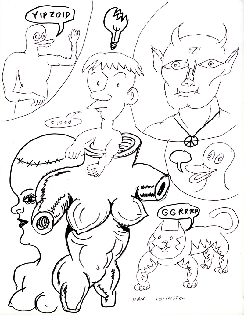 Daniel Johnston, Yipzoid, 2005, pen and marker on paper, 28x21,5 cm
