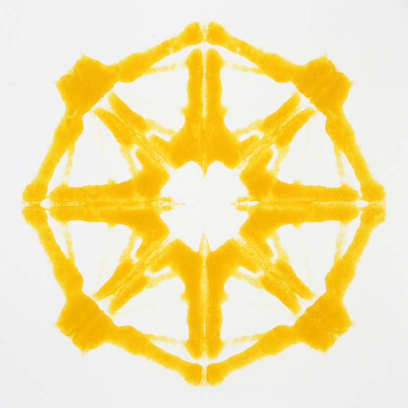 Pierluigi CALIGNANO, Rotante 3, 2007, smalto su carta, cm 50x50