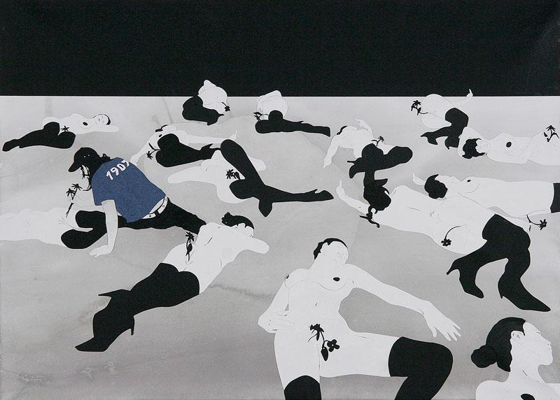 Andrea Mastrovito, Per fare un albero ci vuole un fiore, 2006, collage on paper, 50x70 cm