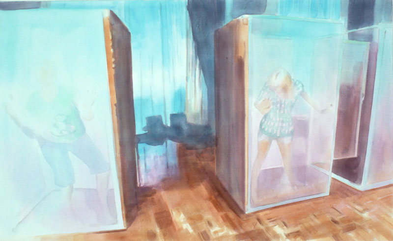 Tom Fabritius, Stars, 2008, acrylic on canvas, 80x130 cm