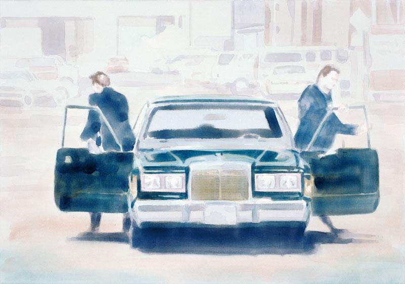 Tom Fabritius, Lincoln, 2006, Aquacrylic On Canvas, 70x100 Cm