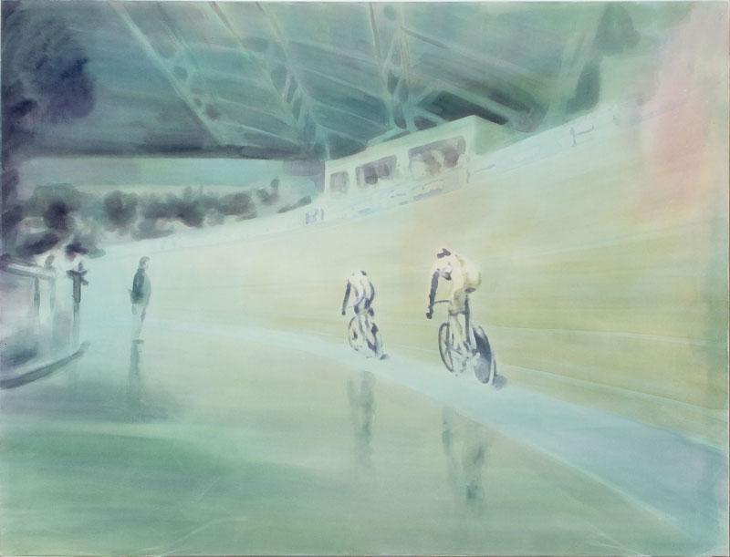 Tom Fabritius, Verfolgung, 2008, aquacrylic on canvas, 130x170 cm