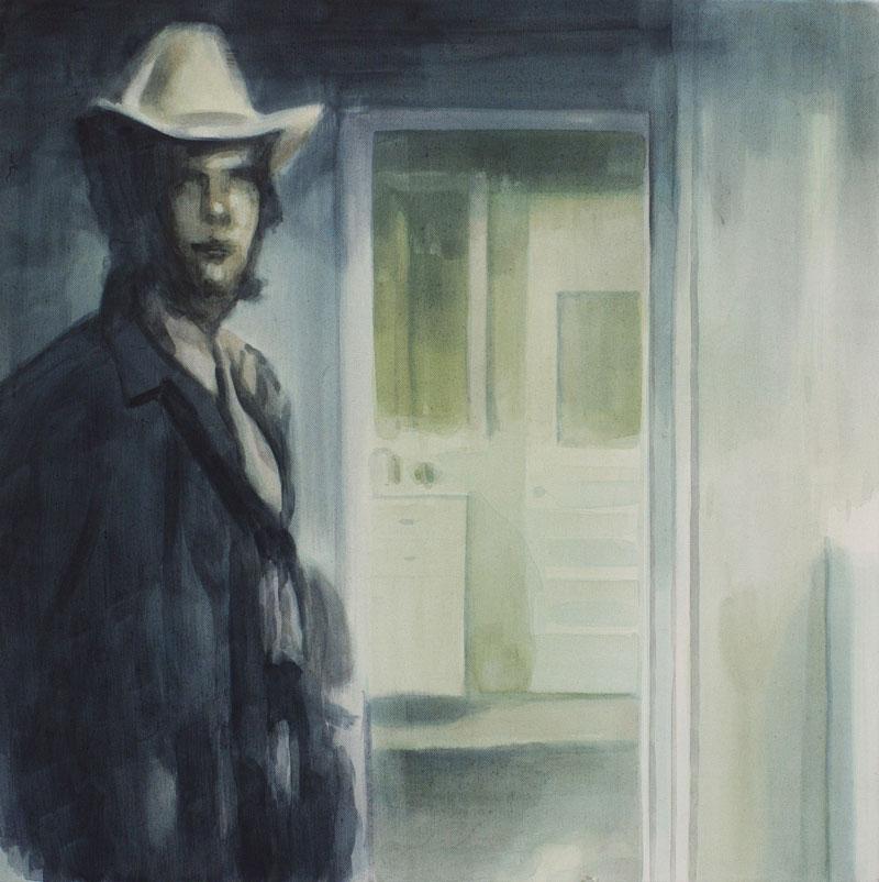 Tom Fabritius, Cowboy, 2008, acrylic on canvas, 60x60 cm