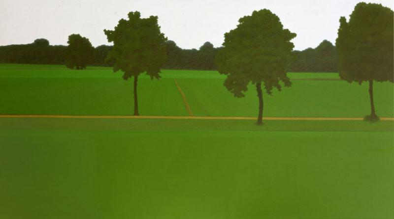 Valentina D'Amaro, S.T., 2004. olio su tela, 125x220 cm