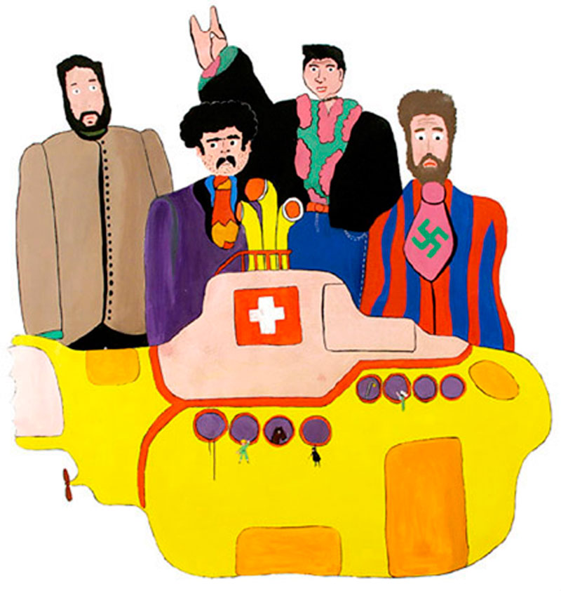 Laboratorio Saccardi, Yellow Submarine, 2005, acrylic on canvas, 205x201 cm