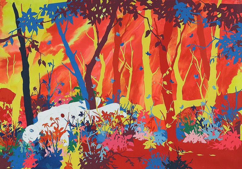 Andrea Mastrovito, Ogni mattina mi alzo e muoio un po', 2006, collage on paper, 70x100 cm