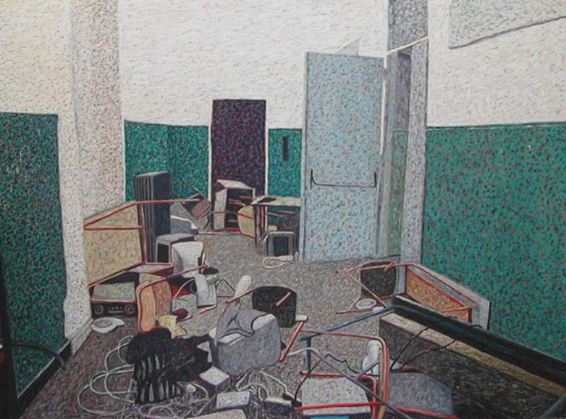 Andrea Salvino, Assassini, 2002, 150x200 Cm