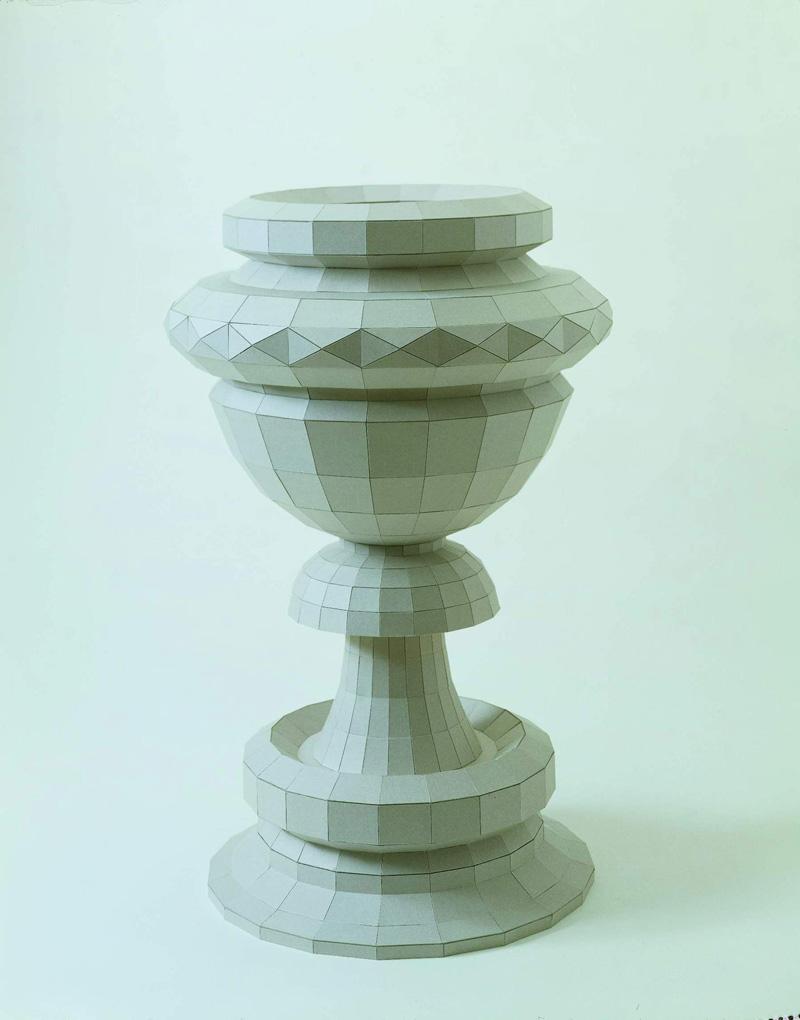 Pierluigi Calignano, 1040 Al Vapore, 2002, Cardboard And Steel, 70x43x43