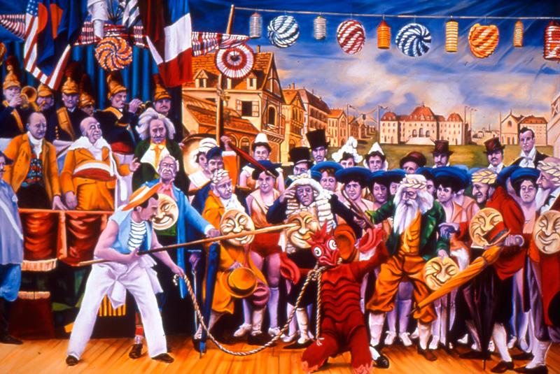 Gabriele Di Matteo, Photo De Plateau N°7, 2003, Oil On Canvas, Cm 180x250