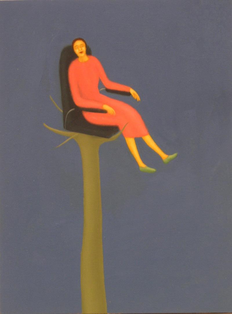 Giuliano Guatta, Le opinioni, 2003, oil on board, 40x30 cm