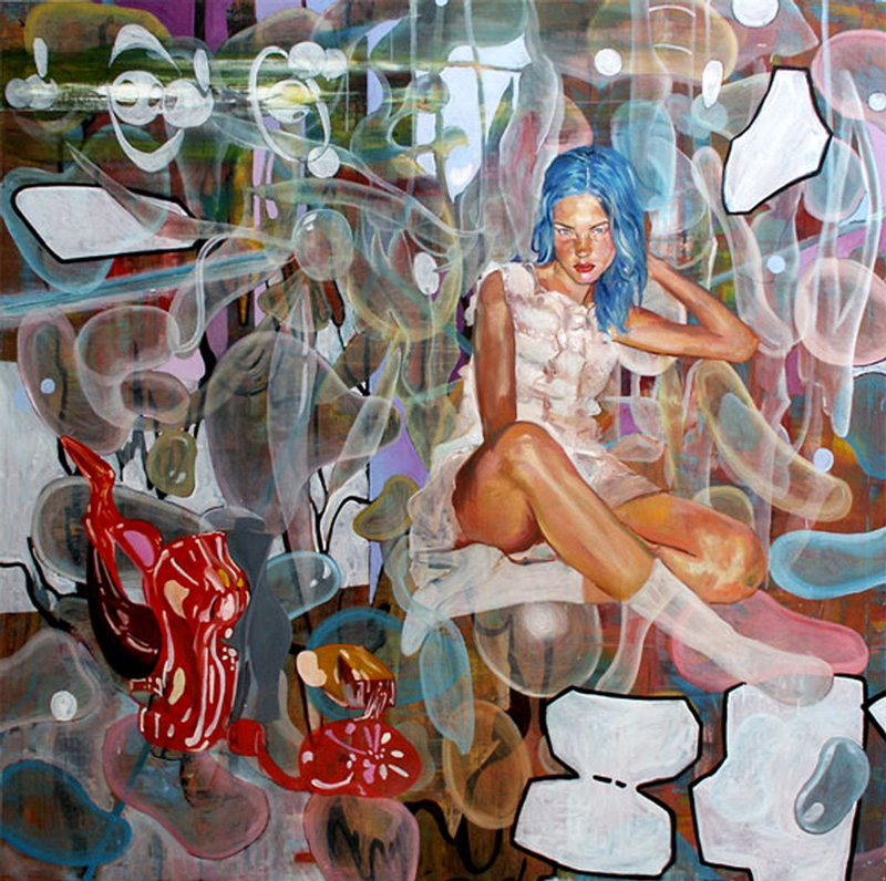 Dormice, High Technology Japanese Version N.A.T., 2002, Oil On Canvas, 200x200 Cm