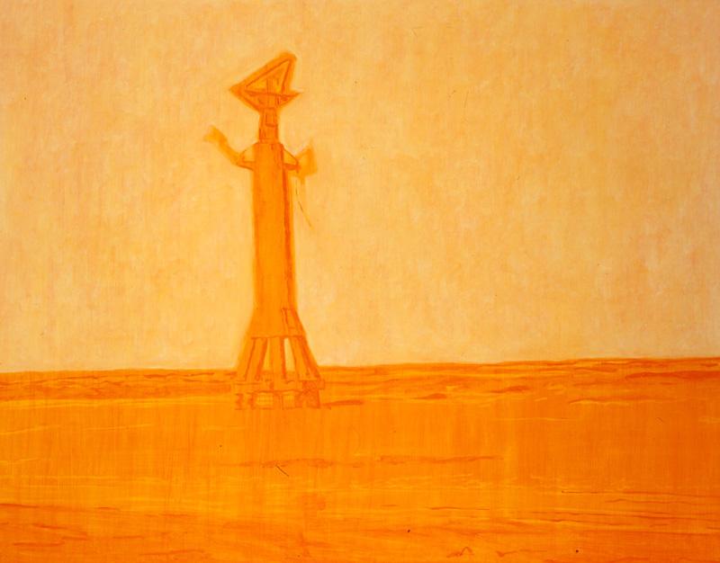 Pietro Capogrosso, Tono Su Tono, 2001, Oil On Canvas, 80x100 Cm