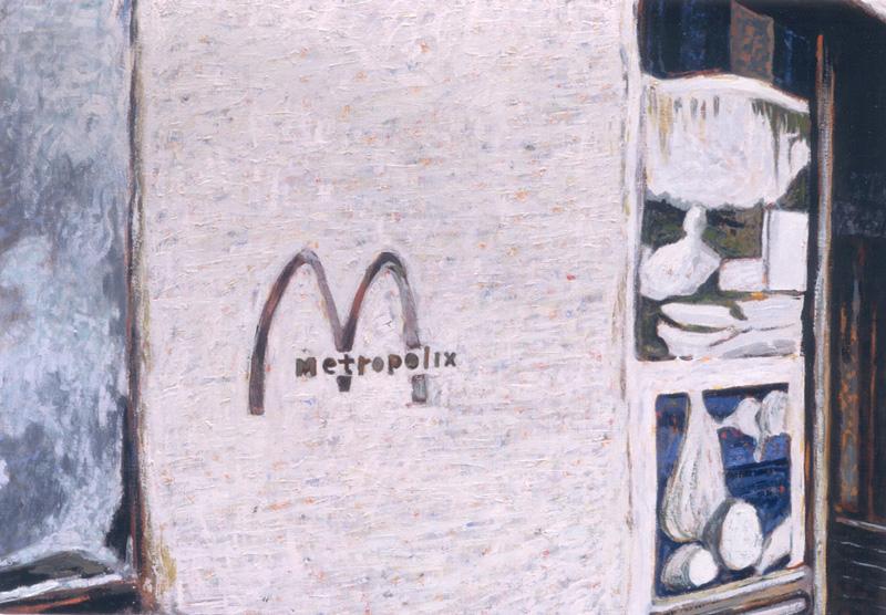 Andrea Salvino, Il Disprezzo, 2001, Olio Su Tela, 35x50 Cm