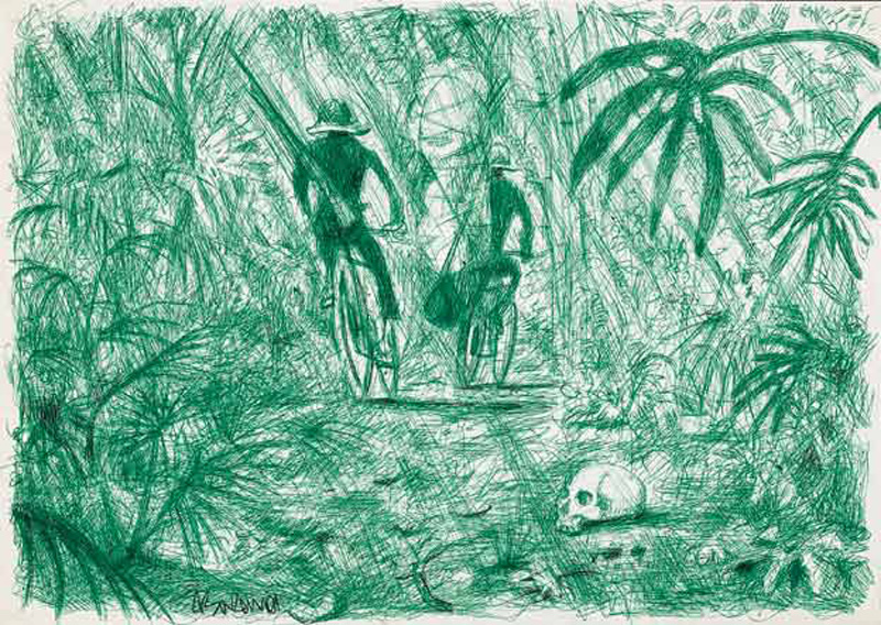 Alessandro Bazan, S.t., Pen On Paper, 21x30 Cm