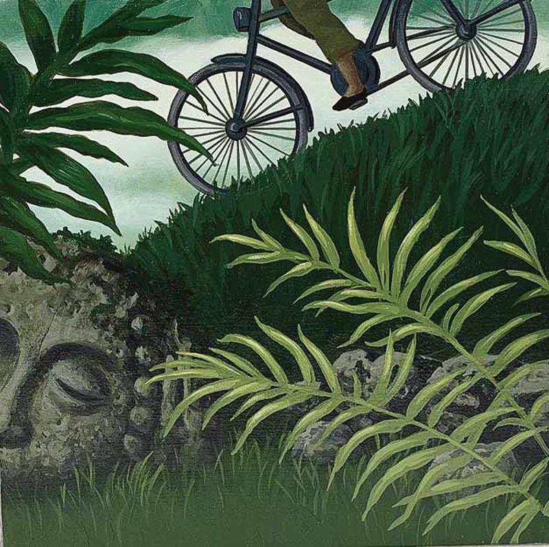 Aldo Damioli, S.t., Acylic On Canvas, 40x50 Cm