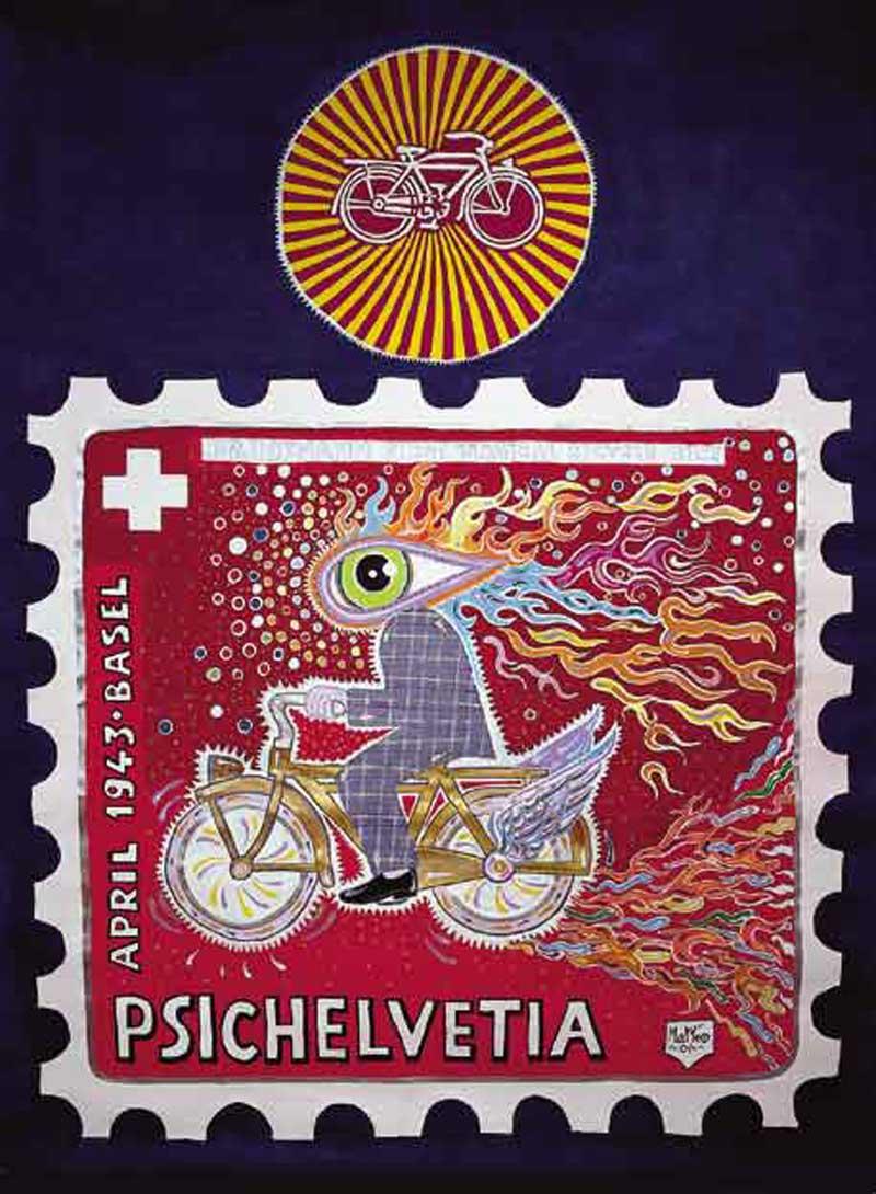 Matteo Guarnaccia, Psichelvetia, 2001, Mixed Media On Canvas, 150x150 Cm
