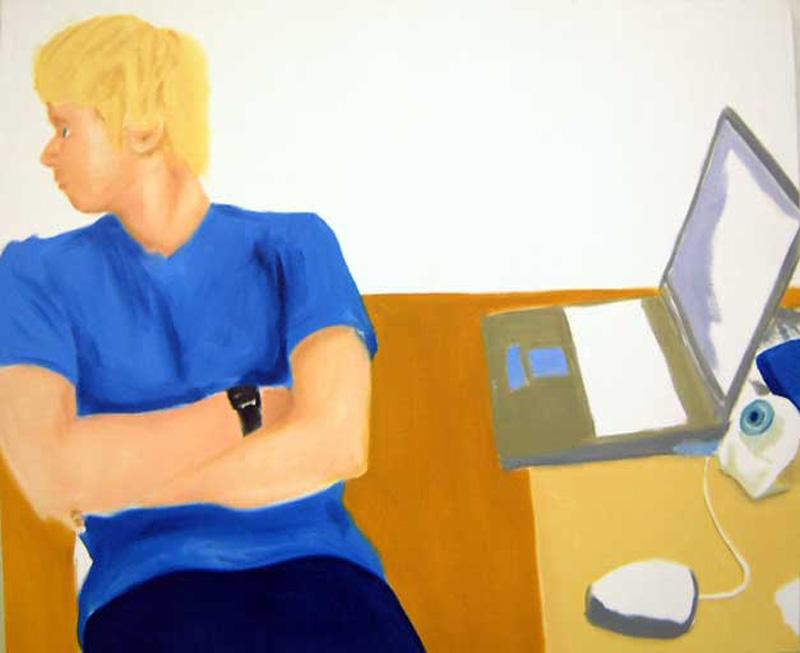 Miltos Manetas, Edgard, 2001, Oil On Canvas, 102x120 Cm
