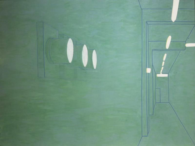 Luca Pancrazzi, Interno Di Paesaggio, 2000, Oil On Canvas, 150x200 Cm