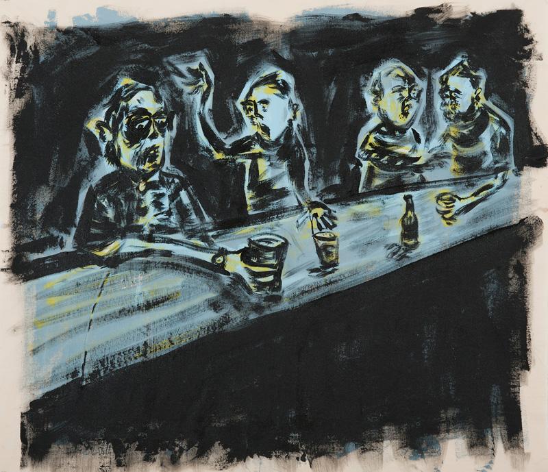 Russ Pope, Saturday Night Live, 2015, acrylic on canvas, 92x80 cm