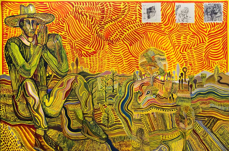 Zio Ziegler, Meditation in Nature, 2015, oil, acrylic and mixed media on canvas, 152x213 cm