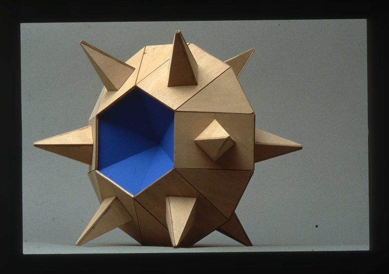 Pierluigi Calignano, N°9, 2000, Wood, 34x34x23 Cm