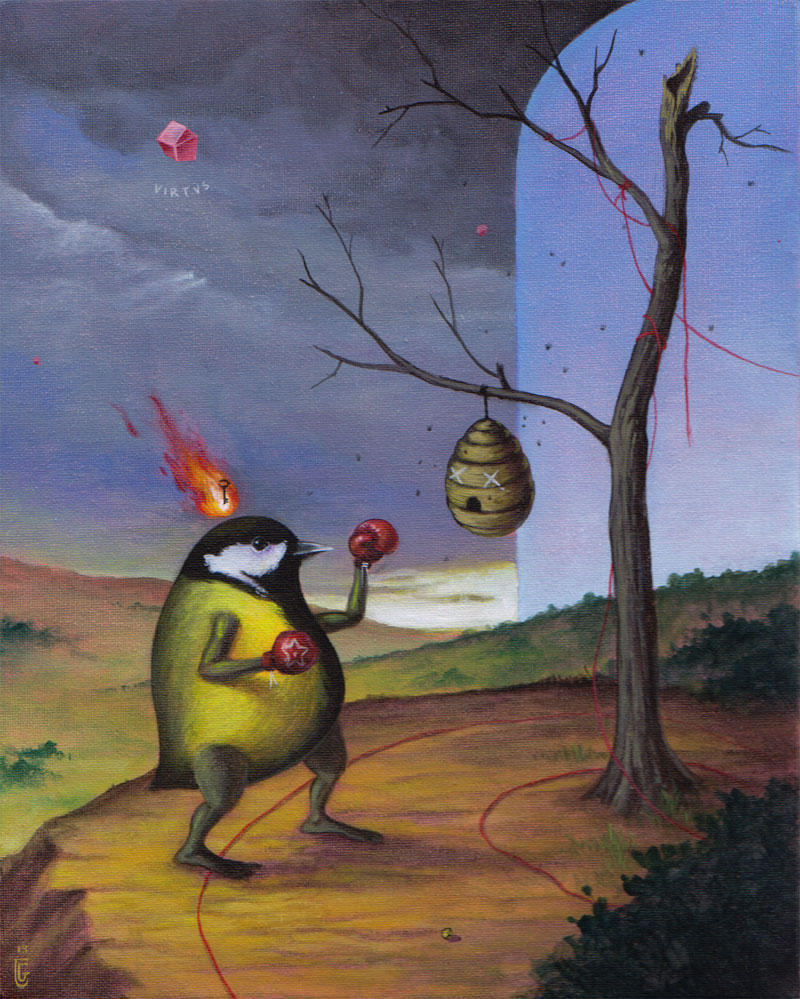 El Gato Chimney, Around, 2013, Acrylic On Canvas, 20x25 Cm