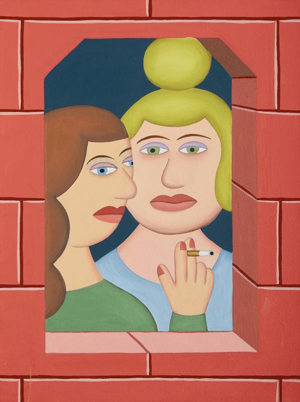 Andy Rementer, La Pausa, 2015, oil on canvas, 61x46 cm
