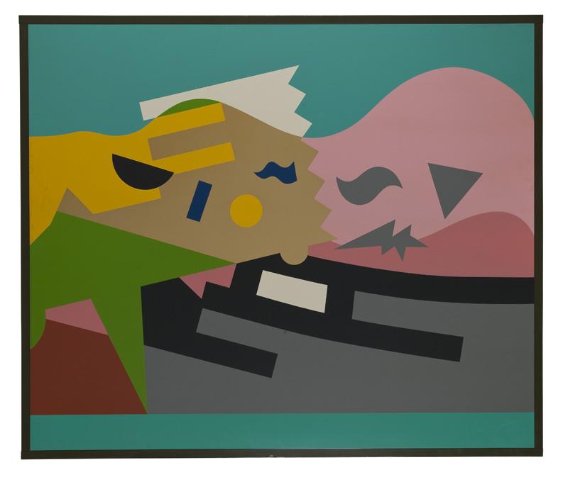 A. Mendini, 1986, ST, nitro su legno, cm 150×180 (cornice 185×160 cm)