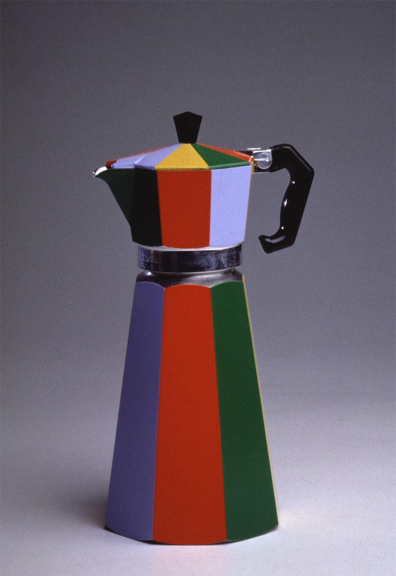 Alessandro Mendini, Oggetto Banale, cafettiera, sculpture, 1980, 12×27 cm edition of 12