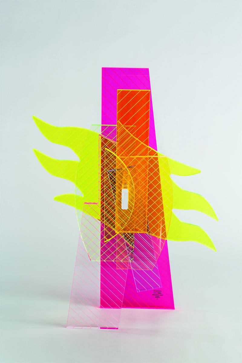 Alessandro Mendini, Six Giovanni Scacchi,2013, Sculpture in Plexiglas, prototipe,  28x15x65 cm, edition of 9