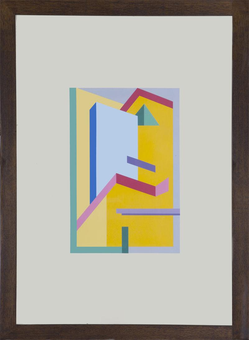 A. Mendini, Tappeto per Zabro, 1985, tempera su cartoncino, 25×37 cm su 50×70 cm