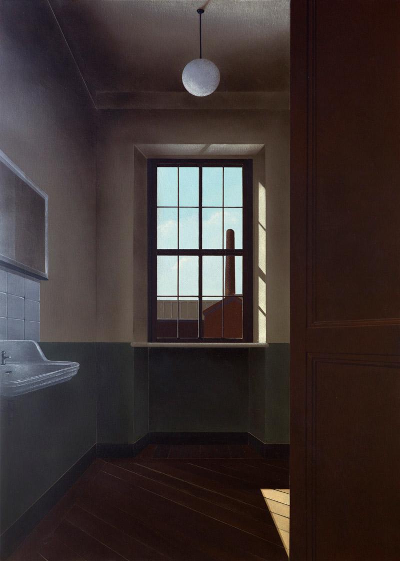 Arduino Cantafora, Avec le Temps II, 2016, olio su tavola, 70×50 cm