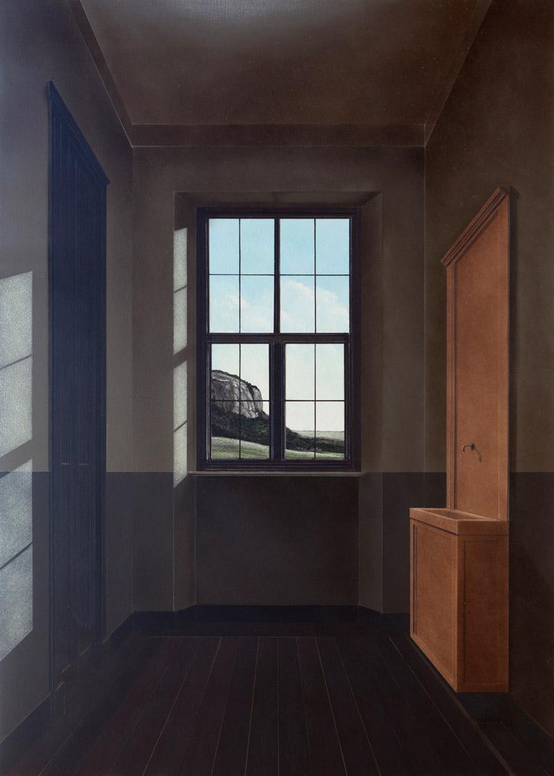 Arduino Cantafora, Avec le Temps III, 2016, vinilico e olio su tavola, 70×50 cm