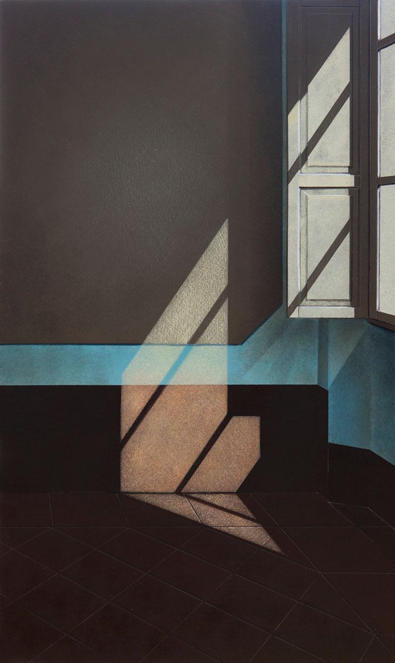 Arduino Cantafora, Finestra II, 2016, vinil and oil on board, 49,5×29,5 cm