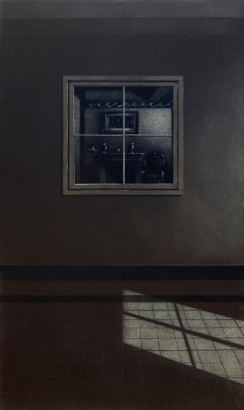 Arduino Cantafora, La Casa III, 2016, vinil and oil on board, 49,5×29,5 cm