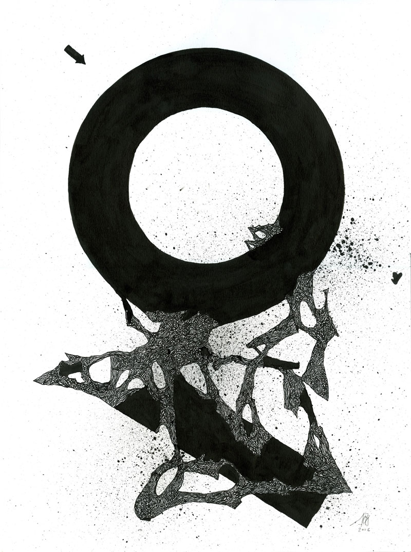108, Senza Titolo, 2016, Ink On Paper, 29,5×40 Cm