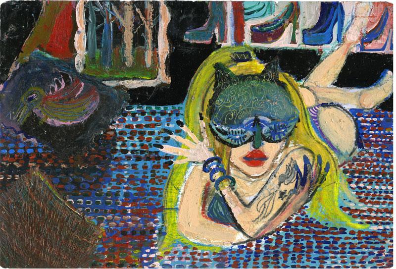 Silvia Argiolas, Lipstick, 2016, Mixed Media On Board, 30×20 Cm