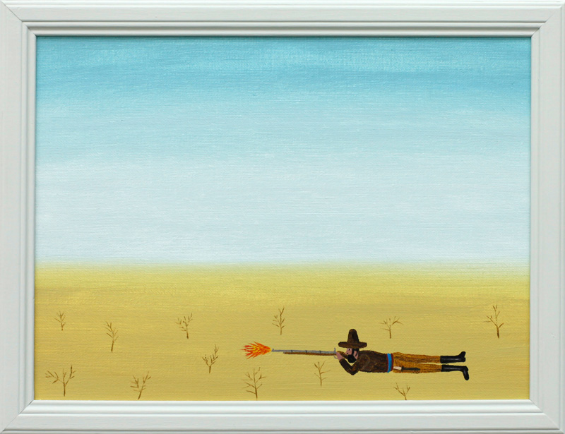 richard johansson, der freischucetz, 2016, oil on panel, 17×23 cm, framed 26×20 cm