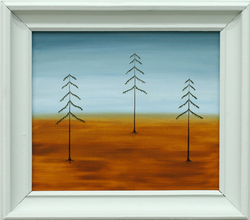 Richard Johansson, Woods where I grew up, 2016, oil on panel, 22×26 cm