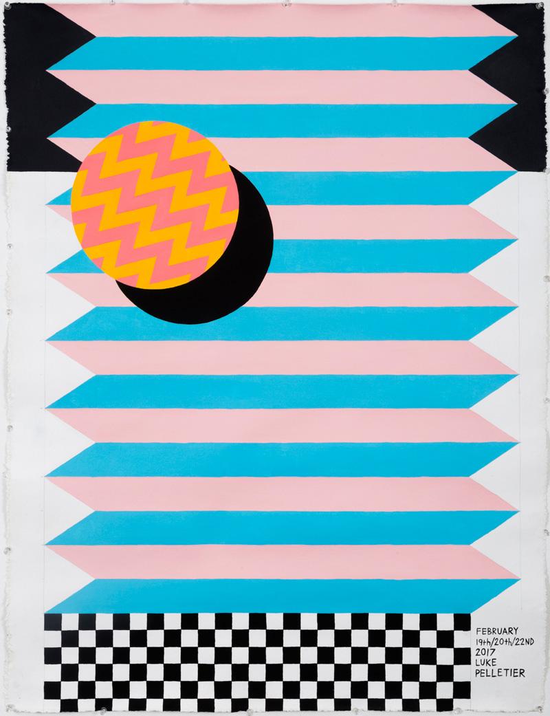 Luke Pelletier, Cheap seats, 2017, acrylic on canvas, 106×81 cm