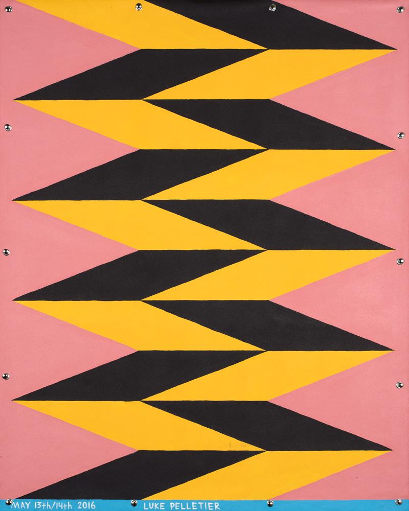 Luke Pelletier, Sorry About The Carpet, 2016, acrylic on canvas, 106×81 cm