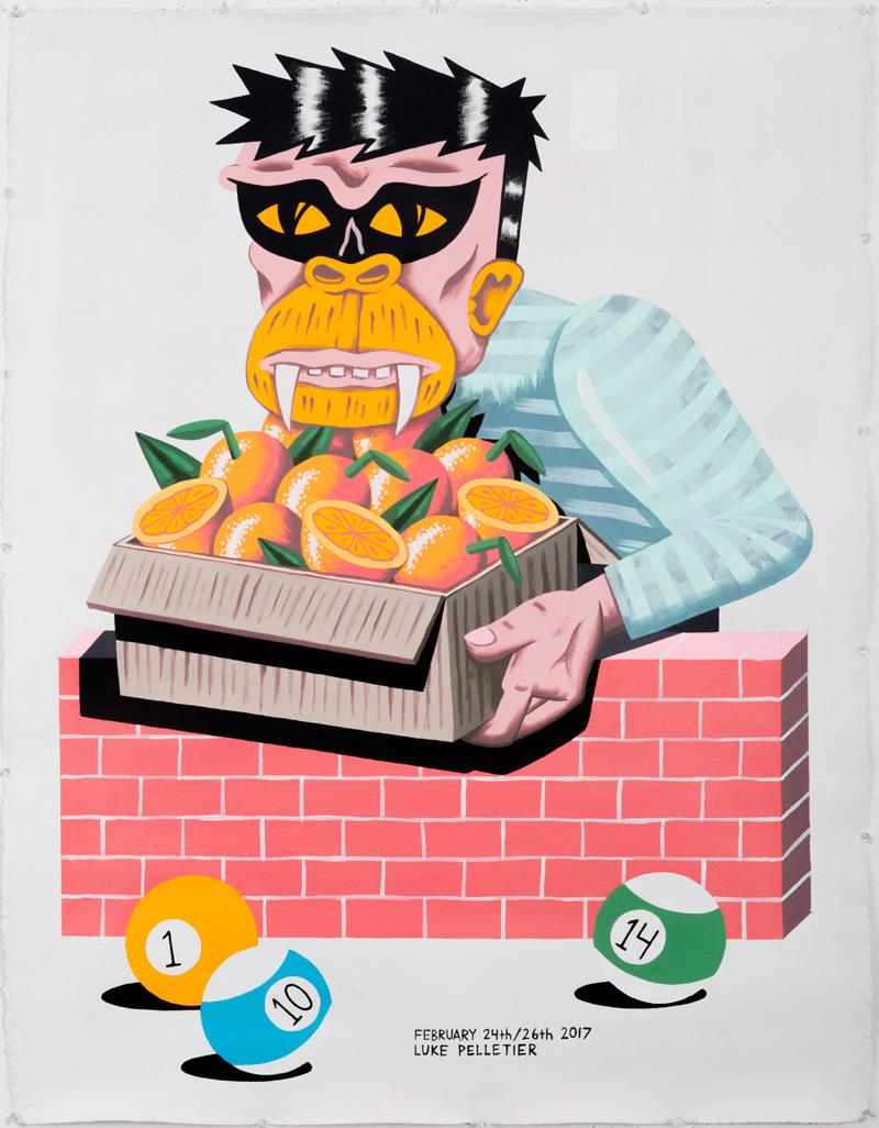 Luke Pelletier, Worth it's weight in gold, 2017, acrylic on canvas, 106×81 cm