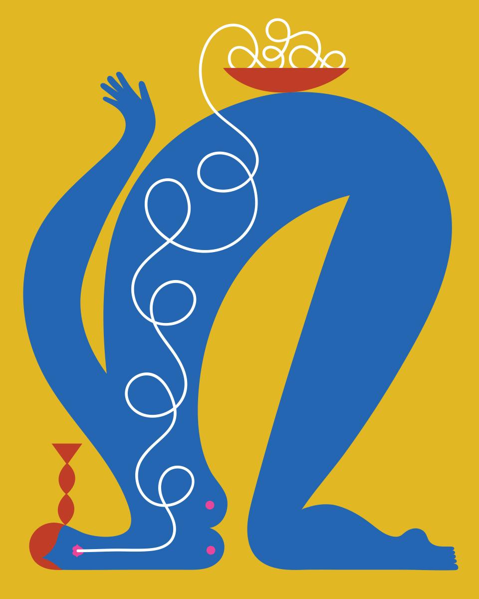 Olimpia Zagnoli, How to eat spaghetti like a lady, 2017, stampa digitale su carta, ed.di 8, 50×40 cm (6)