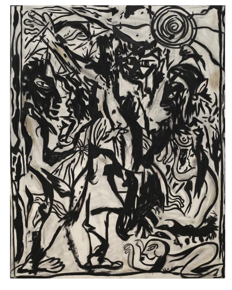 Daniel Gibson, Pick you apart, 2017, mixed media on canvas, 116×91 cm