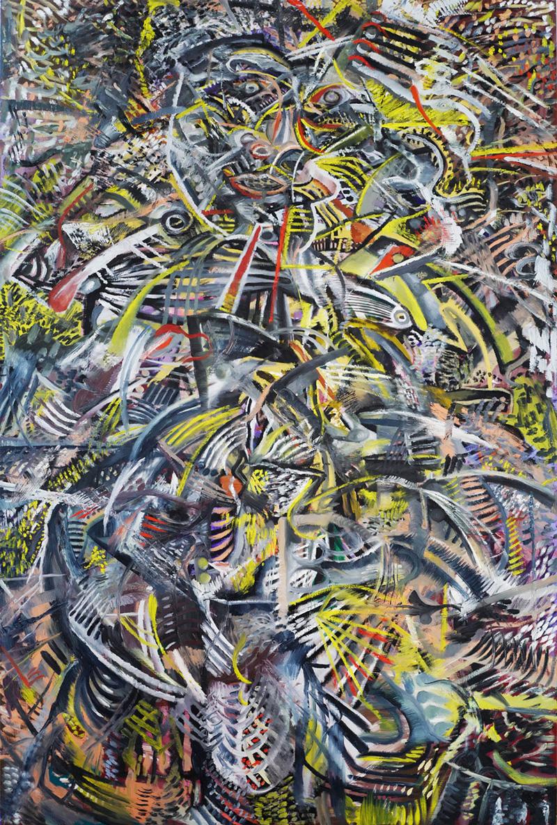 Zio Ziegler, Back from the Gramd Utah II, 2017, mixed media on canvas, 182×121 cm