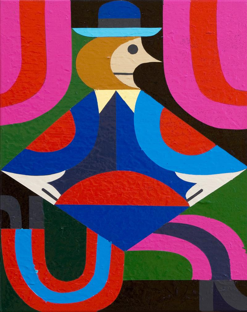 Christoph Ruckhaberle, Der neue Typ 11, 2017, acrylic on canvas, 80×60 cm