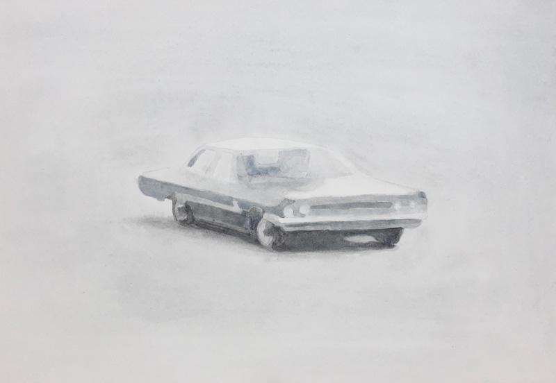 Joshua-Huyser,-sedan,-watercolor-on-paper,-28cm-x-40.5cm,–2017-(2)