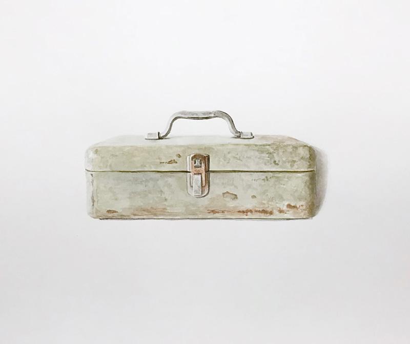 Joshua-Huyser,-tool-box,-watercolor-on-paper,-35.5cm-x-42.7cm,-2016