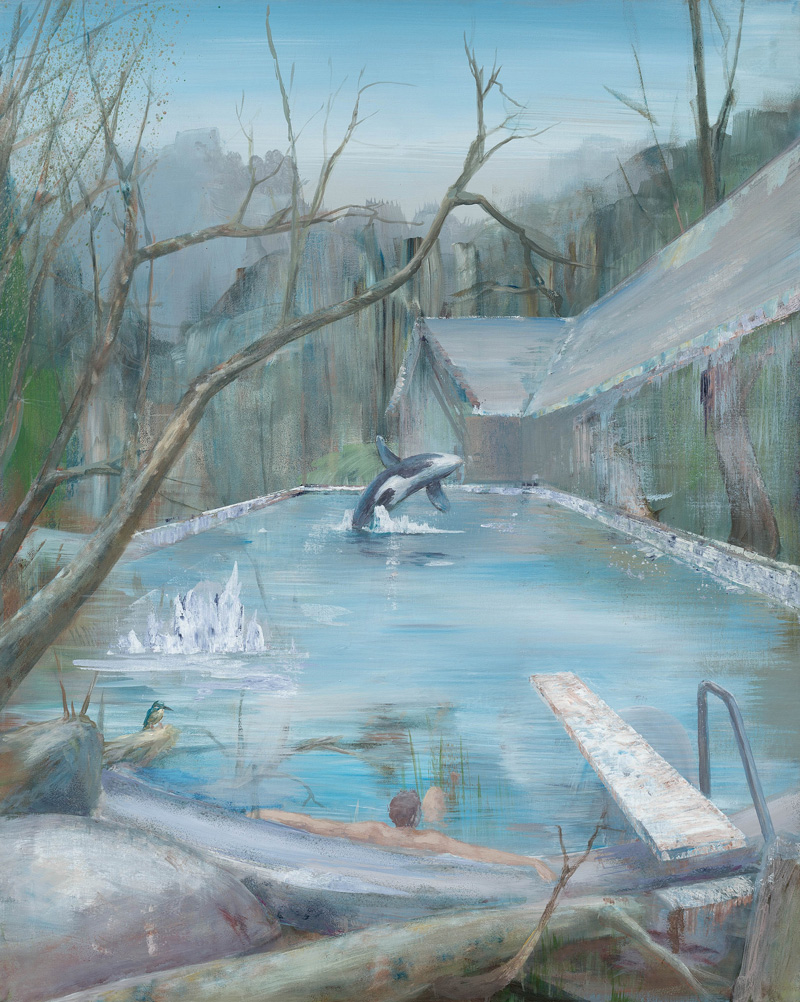 Peter Busch, Pool, 2016, acrylic on canvas, 100×80 cm